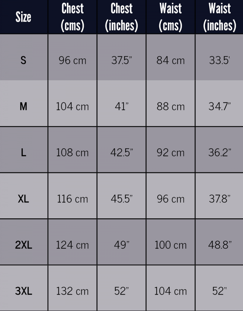 Logan Size Guide