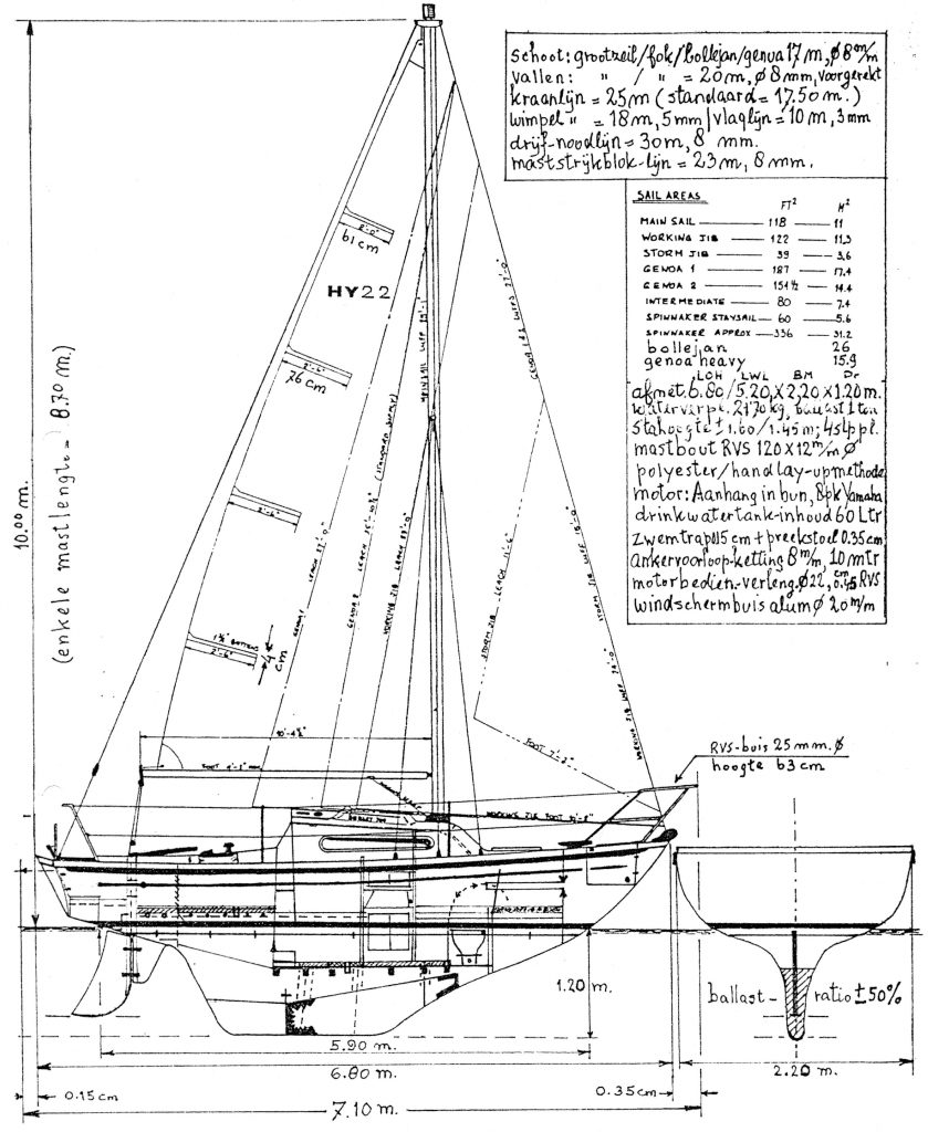 yacht drawing